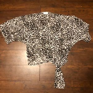 Cheetah Print Tie Top
